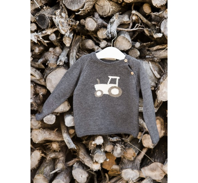 Jersey gris antracita tractor